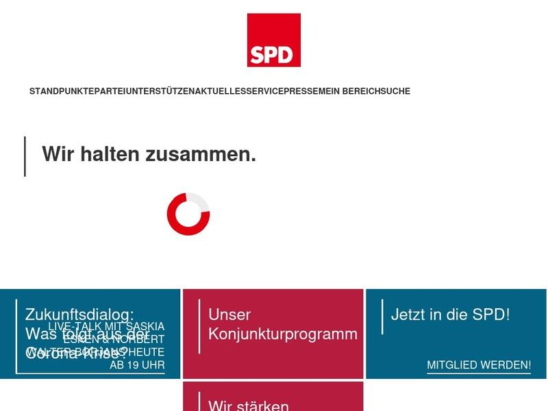 Screenshot von https://www.spd.de/